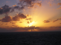 Sunset near Tortola, BVI